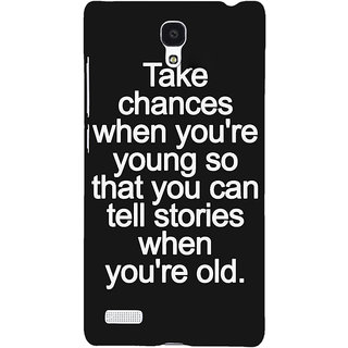 Jugaaduu Quote Back Cover Case For Redmi Note 4G - J241476