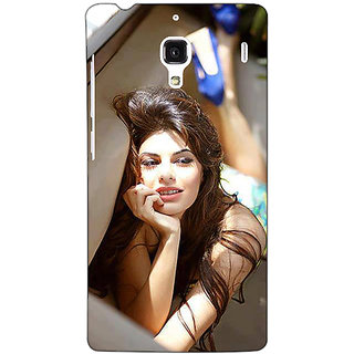 Jugaaduu Bollywood Superstar Jacqueline Fernandez Back Cover Case For Redmi 1S - J250996