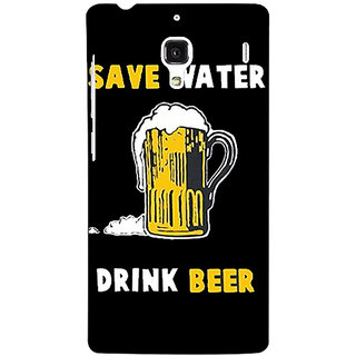 Jugaaduu Beer Quote Back Cover Case For Redmi 1S - J251262