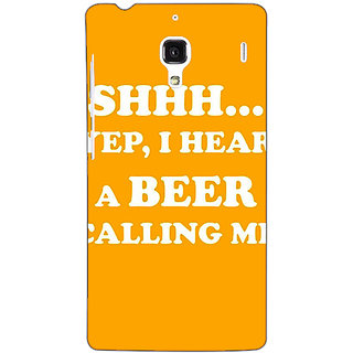 Jugaaduu Beer Quote Back Cover Case For Redmi 1S - J251263
