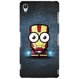 Jugaaduu Big Eyed Superheroes Iron Man Back Cover Case For Sony Xperia Z3 - J260396