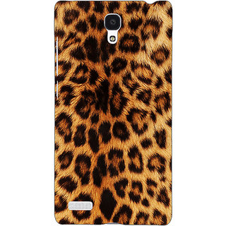 Jugaaduu Cheetah Leopard Print Back Cover Case For Redmi Note 4G - J240080