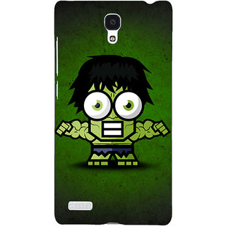 Jugaaduu Big Eyed Superheroes Hulk Back Cover Case For Redmi Note 4G - J240394