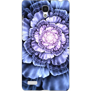 Jugaaduu Abstract Flower Pattern Back Cover Case For Redmi Note 4G - J241516