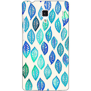 Jugaaduu Blue Leaves Pattern Back Cover Case For Redmi 1S - J250254