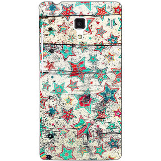 Jugaaduu Funky Stars Pattern Back Cover Case For Redmi 1S - J250264