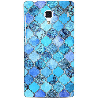 Jugaaduu Blue Moroccan Tiles Pattern Back Cover Case For Redmi 1S - J250287