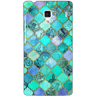 Jugaaduu Sky Blue Morocan Tiles Pattern Back Cover Case For Redmi 1S - J250292