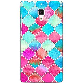 Jugaaduu Blue Pink Moroccan Tiles Pattern Back Cover Case For Redmi 1S - J250295
