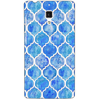 Jugaaduu White Blue Moroccan Tiles Pattern Back Cover Case For Redmi 1S - J250296