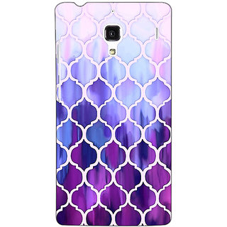 Jugaaduu White Purple Moroccan Tiles Pattern Back Cover Case For Redmi 1S - J250297