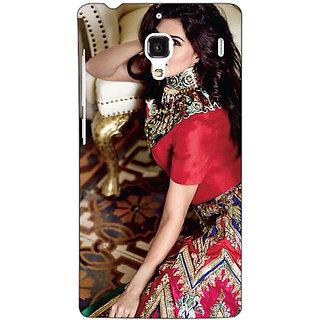 Jugaaduu Bollywood Superstar Jacqueline Fernandez Back Cover Case For Redmi 1S - J251051