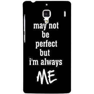 Jugaaduu Quote Back Cover Case For Redmi 1S - J251289
