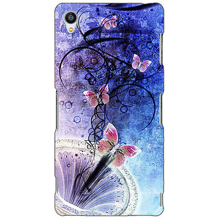 Jugaaduu Abstract Butter Fly Pattern Back Cover Case For Sony Xperia Z3 - J261510