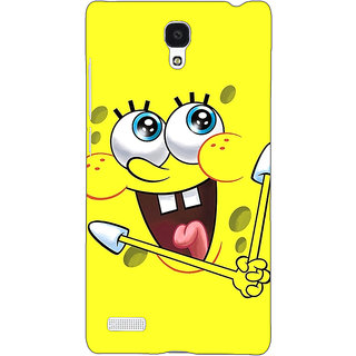 Jugaaduu Spongebob Back Cover Case For Redmi Note 4G - J240460