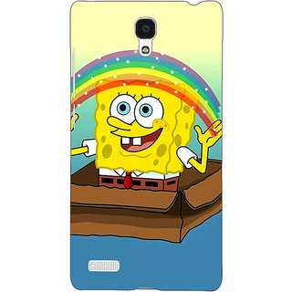 Jugaaduu Spongebob Back Cover Case For Redmi Note 4G - J240469