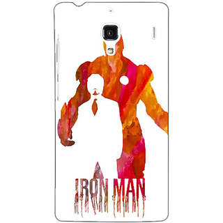 Jugaaduu Superheroes Iron Man Back Cover Case For Redmi 1S - J250330