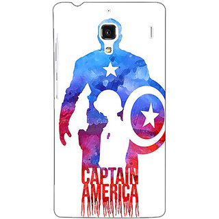 Jugaaduu Superheroes Captain America Back Cover Case For Redmi 1S - J250332