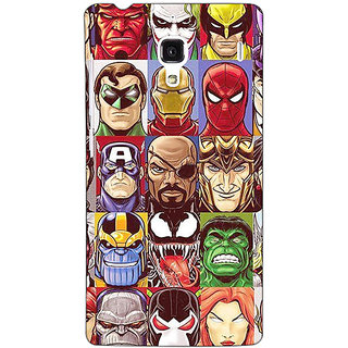 Jugaaduu Super Heroes and Villains Back Cover Case For Redmi 1S - J251401