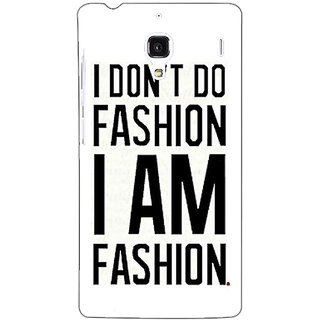 Jugaaduu Fashion Quote Back Cover Case For Redmi 1S - J251428