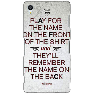 Jugaaduu Arsenal Back Cover Case For Sony Xperia Z3 - J260512