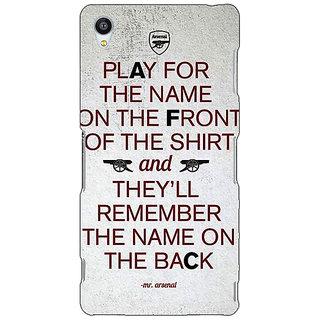Jugaaduu Arsenal Back Cover Case For Sony Xperia Z3 - J260512