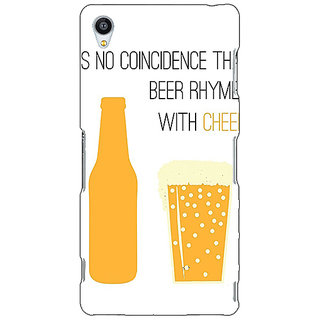Jugaaduu Beer Quote Back Cover Case For Sony Xperia Z3 - J261204