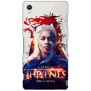 Jugaaduu Game Of Thrones GOT Khaleesi Daenerys Targaryen Back Cover Case For Sony Xperia Z3 - J261539