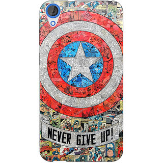 Jugaaduu Superheroes Captain America Back Cover Case For HTC Desire 820 - J280334