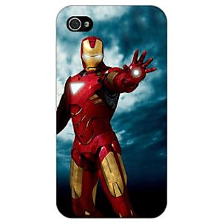 Jugaaduu Superheroes Ironman Back Cover Case For Apple iPhone 4 - J10031
