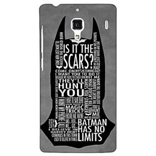 Jugaaduu Superheroes Batman Dark knight Back Cover Case For Redmi 1S - J250001