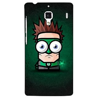 Jugaaduu Big Eyed Superheroes Green Lantern Back Cover Case For Redmi 1S - J250399