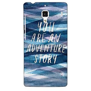 Jugaaduu Quotes Adventure Back Cover Case For Redmi 1S - J251159