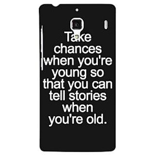 Jugaaduu Quote Back Cover Case For Redmi 1S - J251476