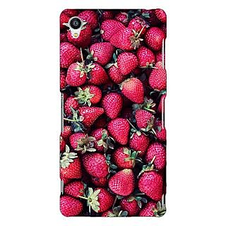 Jugaaduu Strawberry Pattern Back Cover Case For Sony Xperia Z3 - J260201