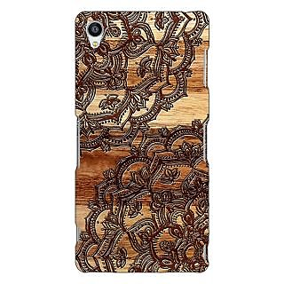 Jugaaduu Black Brown Doodle Pattern Back Cover Case For Sony Xperia Z3 - J260213