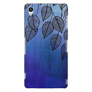 Jugaaduu Blue Leaves Pattern Back Cover Case For Sony Xperia Z3 - J260218