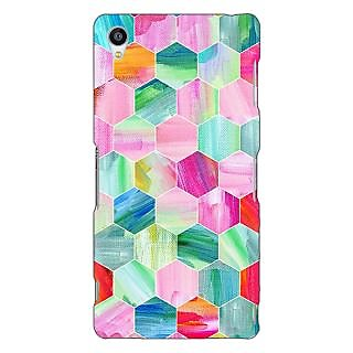 Jugaaduu Hexagon  Pattern Back Cover Case For Sony Xperia Z3 - J260222