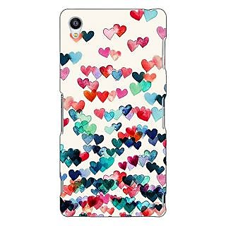 Jugaaduu Hearts in the Air Pattern Back Cover Case For Sony Xperia Z3 - J260234