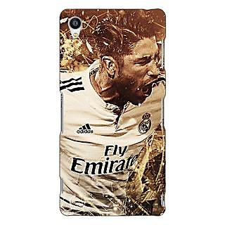 Jugaaduu Real Madrid Sergio Ramos Back Cover Case For Sony Xperia Z3 - J260588