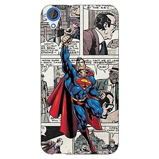 Jugaaduu Superheroes Superman Back Cover Case For HTC Desire 820 - J280029