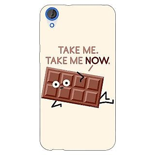 Jugaaduu Chocolate Quote Back Cover Case For HTC Desire 820 - J281451
