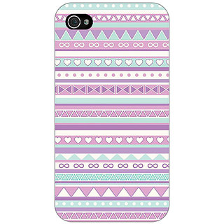Jugaaduu Aztec Girly Tribal Back Cover Case For Apple iPhone 4 - J10054
