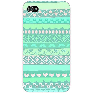 Jugaaduu Aztec Girly Tribal Back Cover Case For Apple iPhone 4 - J10074