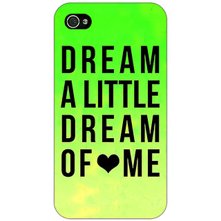 Jugaaduu Dream Love Back Cover Case For Apple iPhone 4 - J10092