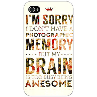 Jugaaduu SUITS Quotes Back Cover Case For Apple iPhone 4 - J10481