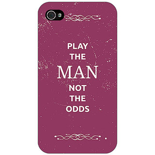 Jugaaduu SUITS Quotes Back Cover Case For Apple iPhone 4 - J10482
