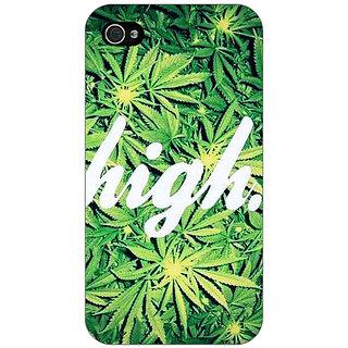 Jugaaduu Weed Marijuana Back Cover Case For Apple iPhone 4 - J10493