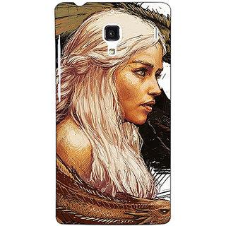 Jugaaduu Game Of Thrones GOT Khaleesi Daenerys Targaryen Back Cover Case For Redmi 1S - J251534