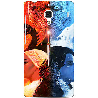 Jugaaduu Game Of Thrones GOT Khaleesi Daenerys Targaryen House Stark Jon Snow Back Cover Case For Redmi 1S - J251542